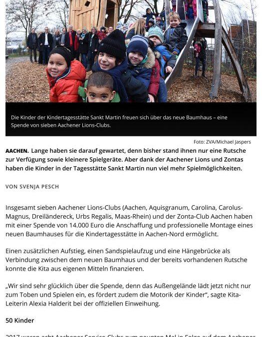 """November 2018: """"Auspowern, klettern und dabei die Motorik schulen"""""""