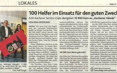 """Februar 2017: """"100 Helfer im Einsatz für den guten Zweck"""""""