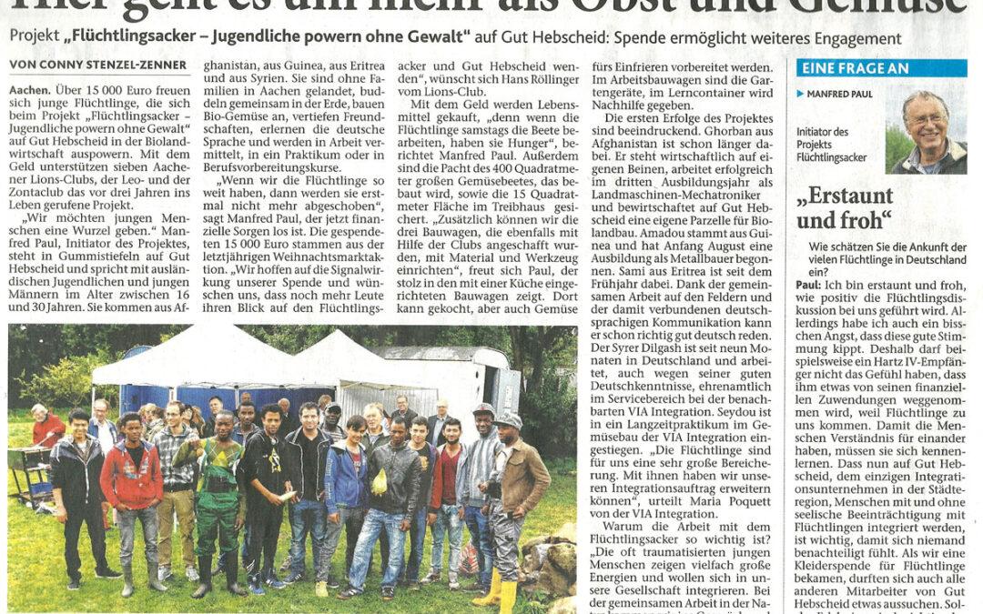 """September 2015: """"Hier geht es um mehr als Obst und Gemüse"""""""