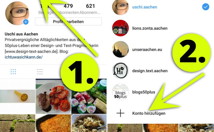 Kurzanleitung: Instagram-Konto hinzufügen