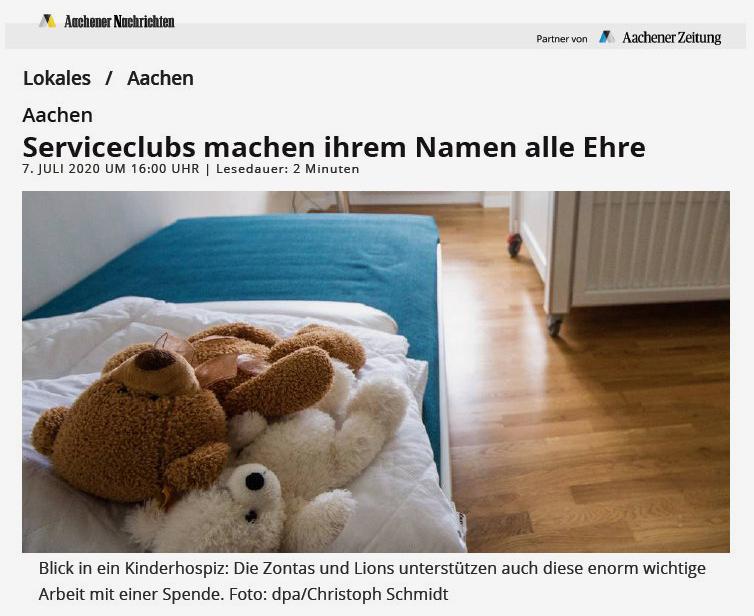 """Juli 2020: """"Serviceclubs machen ihrem Namen alle Ehre"""""""