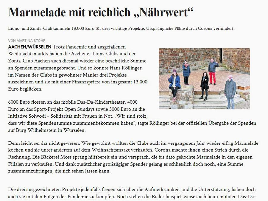 """April 2021: """"Marmelade mit reichlich ,Nährwert'"""""""